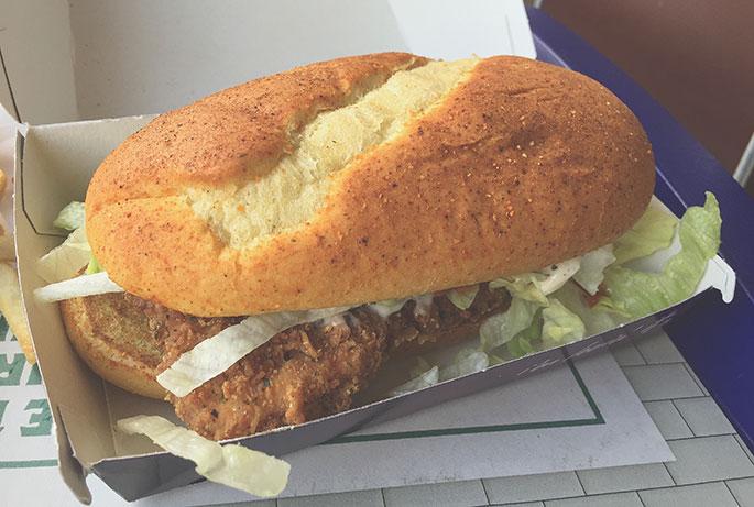 McDonalds Chicken and Chutney Indian Burger