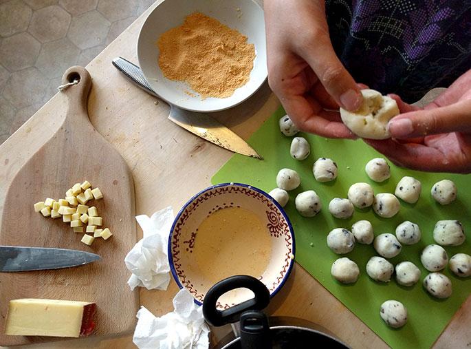Comté and Mushroom Blobs