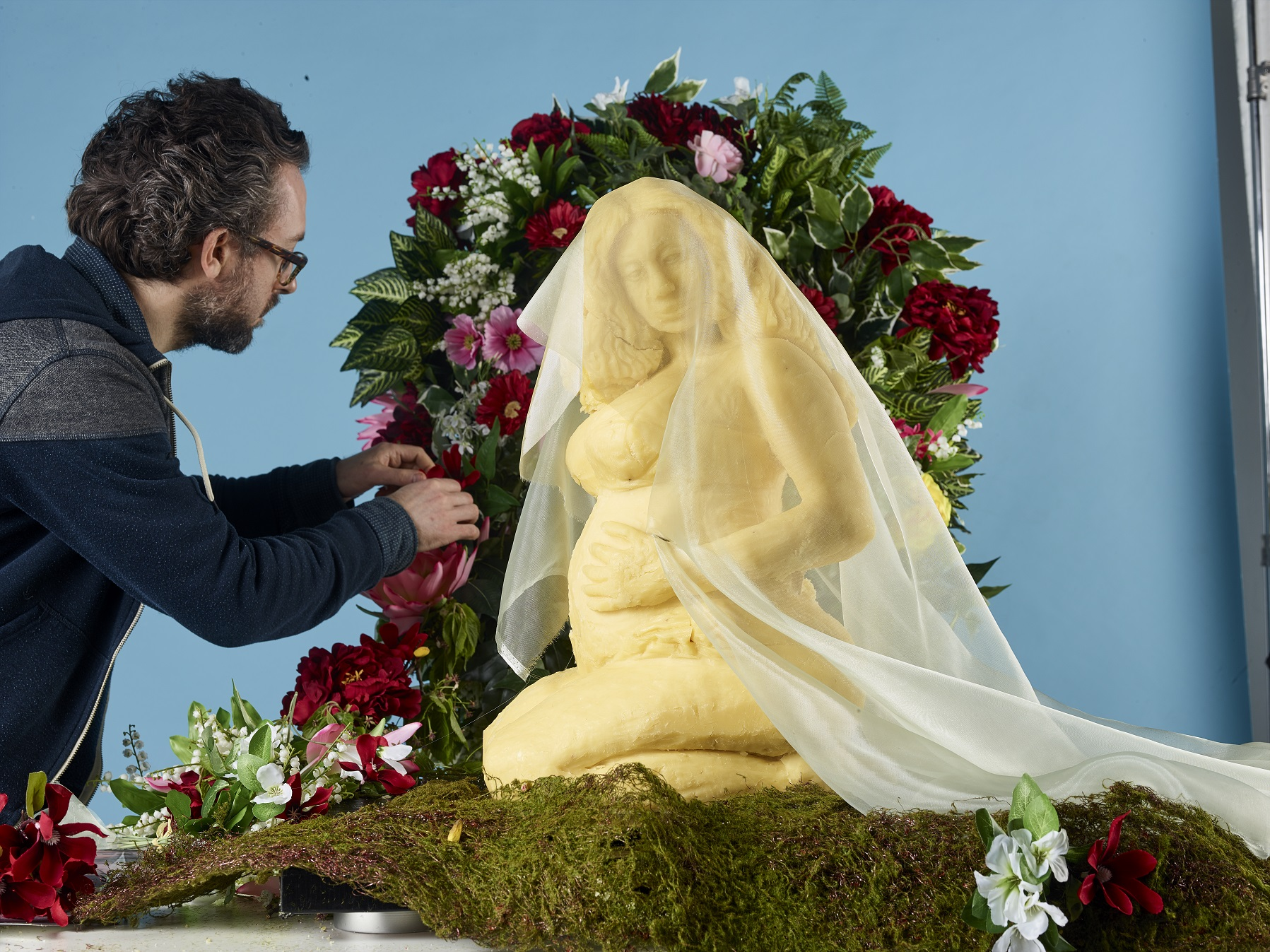 Beyonce is carved entirely out of cheese into the Brie-oncé