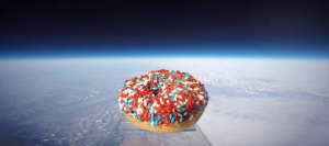 A doughnut was launched 97,000 feet into space